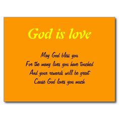 God is love postcards