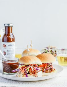 SLOW-COOKED PULLED PORK JERK SLIDERS From The Kitchen