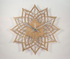 Modern wall clock  Contemporary Flower  wood by BeamDesigns