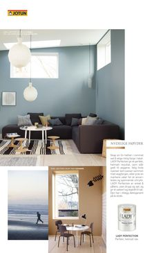 LADY Home Living - Se de nye vakre fargene fra LADY i de tre temaene; Nordic Living, Urban Living og Continental Living Dining Room Design, Home And Living, Urban, Wall, Painting, Furniture, Stove, House Ideas, Palette