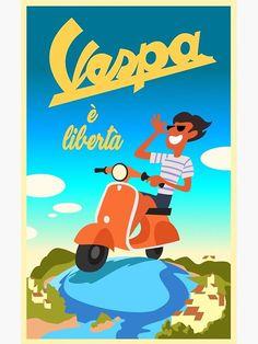 Vespa Luca Poster