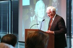 By Rochelle Wilson, The Daily Illini    University President Robert Easter speaks at the memorial held for Carl R. Woese at the Levis Center on Saturday.  Woese was a distinguished faculty member known for his work in molecular biology.