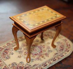 Rare- Artisan Signed- JOHN G. OTTEWILL Inlaid Design Table- Dollhouse Miniature