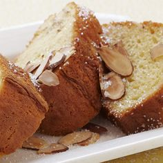 Almond Pound Cake Recipe: This Almond Pound Cake has a silky smooth texture and buttery rich flavor. Create a sensation with Duncan Hines Classic White Cake Mix.