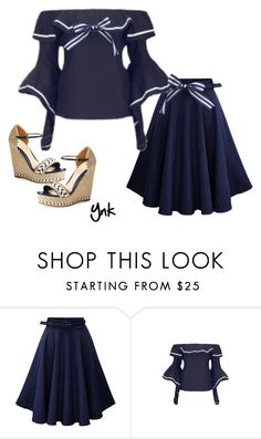 """Sailor girl"" by ynk24 ❤ liked on Polyvore featuring WithChic, Gucci and Jura"