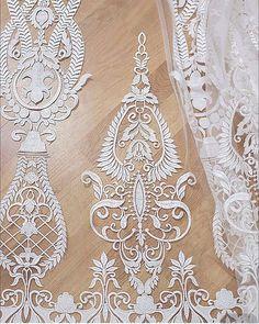 Fashion Ivory bridal lace3d lace fabric elegent by AnnabelleDIY