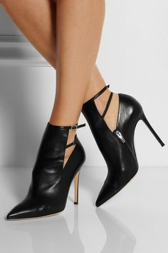 Gianvito Rossi | Pointed leather ankle boots | NET-A-PORTER.COM