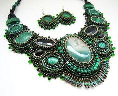 Beautiful embroidered jewelry by Zana Pancirova | Beads Magic
