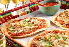 Quick, creative and delicious, these zesty pizzas use flour tortillas for the crust.  They're a great solution for busy nights, but they're so good, you'll want to make them all the time.