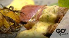 Grillet bøf med marinerede grønne bønner, kartoffelfritter og klassisk bernaise