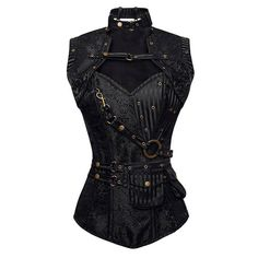 steampunk corset just like another one I pinned but this one is black which is nice too