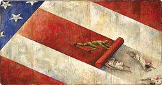 """Under the US flag"", www.adamsillustration.com, Steve Adams"