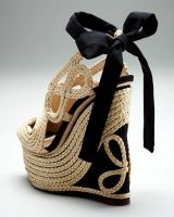 These wedges will put you at pucker height with your tall drink of water @ www.apronandheels.com