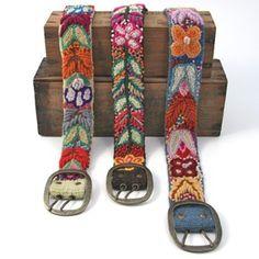 cinturones bordados