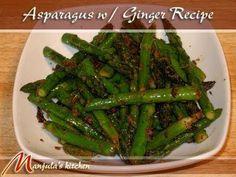 Asparagus With Ginger - Manjula's Kitchen - Indian Vegetarian Recipes