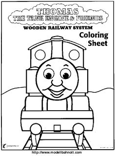 Perseverance:  Thomas the Train Coloring Sheet