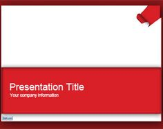 Paper Border PowerPoint Template is a red style template for PowerPoint presentations with a paper border effect in the slide design