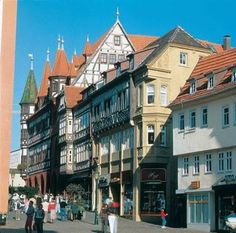 Downtown shopping in Fulda, Germany