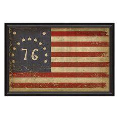 Flag Bennington Framed Art SC88926
