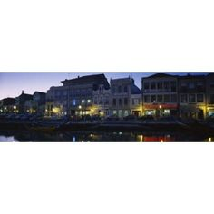 Buildings at the waterfront Costa De Prata Aveiro Portugal Canvas Art - Panoramic Images (36 x 12)