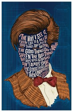The Famous Hair / Lines series presents: The Doctor with a definitive quote from the Matt Smith version of the character. 11 x 17 100 lb cardstock digital print, available with or without signature of myself, the artist. Doctor Who Poster, Doctor Who Fan Art, Doctor Who Quotes, Matt Smith Doctor Who, David Tennant Doctor Who, Doctor Who Gifts, Unique Poster, Eleventh Doctor, Digital Prints