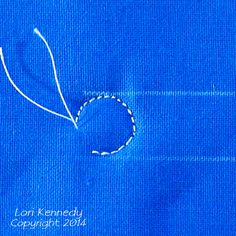 String Pearls, Free motion quilting,