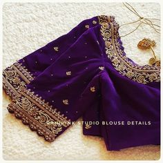 Blouse Designs High Neck, Cutwork Blouse Designs, Hand Work Blouse Design, Simple Blouse Designs, Stylish Blouse Design, Traditional Blouse Designs, Designer Blouse Patterns, Zardozi Embroidery, Hand Embroidery
