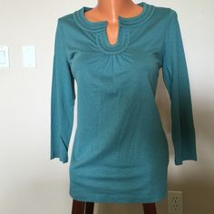 Talbots t-shirt 3/4 sleeves, never worn, cotton mix. Talbots Tops Tees - Long Sleeve