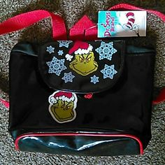 Dr.Seuss Grinch Backpack ( Not Hot Topic ) Super cute Grinch Stole Christmas Backpack Still Had Tag 🎁                                                    ✴Fast Shipper ( Same Day Or The Next Day Depending On When Purchase Was Made ) ✴Bundle To Save $$ ✴ Send Offers Hot Topic Bags Backpacks