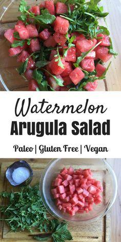 Paleo Watermelon Arugula Salad - Oh Snap! Let's Eat!