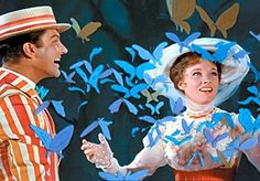 Dick Van Dyke and Julie Andrews in Mary Poppins. Mary Poppins is a 1964 musical film starring Julie Andrews and Dick Van Dyke, produced by Walt Disney, and based on the Mary Poppins books series by P. L. Travers. The film was directed by Robert Stevenson and written by Bill Walsh and Don DaGradi, with songs by the Sherman Brothers. It was shot at Walt Disney Studios in Burbank, California.