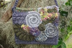 """Wonderful crocheted purse featured as a """"pinable photo"""" on the blog Yarn Over, Pull Through by Patrice Walker"""