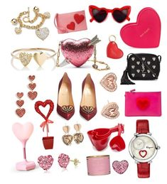"""Valentine love 2018"" by bhavna27 on Polyvore featuring Waterford, Sevil Designs, Kate Spade, Salvatore Ferragamo, Sur La Table, BCBGeneration, Palm Beach Jewelry, Jennifer Meyer Jewelry, Anya Hindmarch and Yves Saint Laurent"