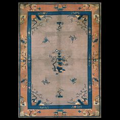 Chinese - Peking Rug - 23138 | Chinese 6' 3'' x 8' 8'' | Taupe, Origin China, Circa: 1920