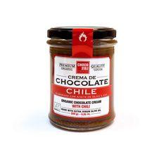 Crema de chocolate de sabores: con flor de sal, amargo de verdad, con aceite de oliva, chile o mandarina.