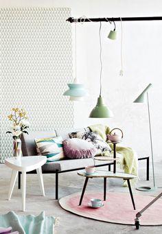decorazione camera da letto colori pastello