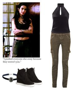 Isabelle Lightwood - shadowhunters by shadyannon on Polyvore featuring polyvore fashion style Miss Selfridge Current/Elliott MM6 Maison Margiela Topshop clothing