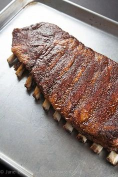 Melt In Your Mouth Ribs; 2014 Jane Bonacci, The Heritage Cook Dutch Oven Ribs, Easy Oven Baked Ribs, Baked Bbq Ribs, Ribs In Oven, Barbecue Pork Ribs, Ribs Recipe Oven, Pork Rib Recipes, Meat Recipes, Cooking Recipes