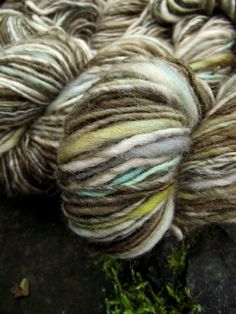 Handspun yarn, handpainted BFL wool yarn, worsted weight thick and thin hobbit yarn, multiple skeins available-Beorn