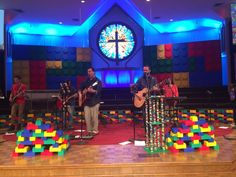 You Never Lego from Lake Arlington Baptist Church in Arlington, TX   Church Stage Design Ideas