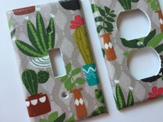 Succulent Decor / Single Light Switch Cover / Succulent Switch Plate / Succulent Gift / Echeveria / Cactus Decor / Succulent Wall Art