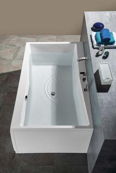 QUEST obdélníková vana 180x100x49cm, bílá : SAPHO E-shop Bath Screens, Bathtubs, New Homes, Bathroom, House, Shopping, Washroom, Bathtub, Home