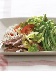 Broiling the steak, rather than pan-frying or grilling it, leaves you free to blanch the green beans at the same time, cutting your cooking time to just 30 minutes.