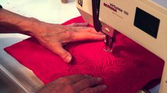 This video is about free motion machin quilting