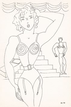 © Barbara Nessim, 1990. Pen and ink on paper, 6 x 9 inches.
