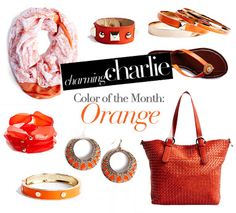 New season, new month, new color! Say hello to orange at your nearest Charming Charlie store.
