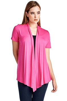 82 Days Women'S Rayon Span Super Comfortable Short Sleeves Cardigan - Solid -- Check out this great item.