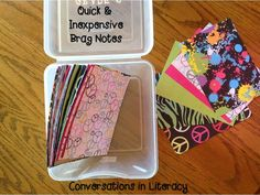 A cheap and easy way to ensure you're sending home positive notes to students.