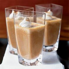 Pumpkin Pie Shake    Though pumpkin is popular in the fall, you can enjoy this creamy treat year-round. You'll get calcium from the milk and beta-carotene from the pumpkin.