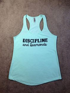 25d30714c7b3 Workout Tank..DiSCiPLiNe aNd DiaMonDs...Terry Tank Top by BlessonsApparel